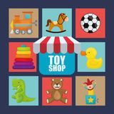 Toy shop design Royalty Free Stock Images