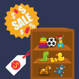 Toy shop design Stock Images
