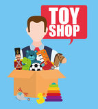 Toy shop design Royalty Free Stock Photo