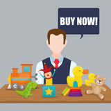 Toy shop design Stock Photography