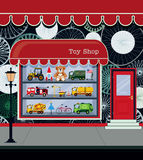 Toy Shop. Fronts along the city streets Royalty Free Stock Photos