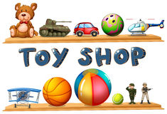 A toy shop. Illustration of a toy shop on a white background royalty free illustration