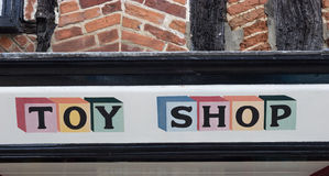 Toy Shop Sign Stock Photo