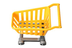Toy Shopping Trolley. On White Background Royalty Free Stock Photography