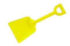 Toy shovel Stock Photography