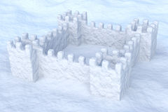 Toy show fort on the snow Stock Images