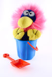 Toy sitting in a bucket Royalty Free Stock Photos