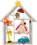 Toy small house. Gifts group hedgehog holiday Royalty Free Stock Photos