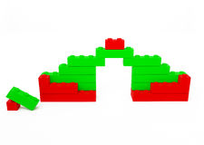 Toy small house of cubes Royalty Free Stock Photo