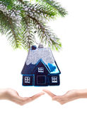 Toy small house - New Year's dream Royalty Free Stock Photography