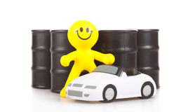 Toy smiling little man Stock Photo