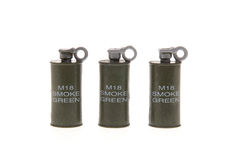 Toy smoke grenades Stock Photo