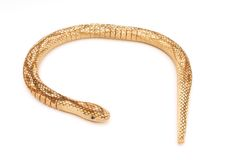 Toy snake. Wooden Royalty Free Stock Image