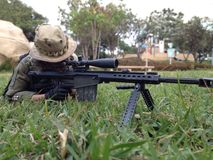 Toy sniper barret M82A1scale 1/6 Royalty Free Stock Images