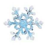 Toy snowflake. Isolated on white background Stock Photo