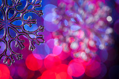 Toy snowflake Royalty Free Stock Images