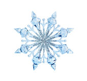 Toy snowflake. Isolated on white background royalty free stock photos