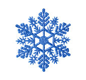 Toy snowflake. Isolated on white background stock photography