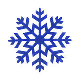 Toy snowflake isolated. Stock Images