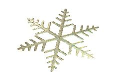 Toy snowflake - isolated on white 3d illustration Royalty Free Stock Photography