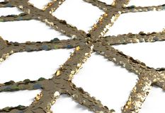 Toy snowflake - isolated on white 3d illustration Royalty Free Stock Photo