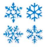 Toy snowflake set Stock Images