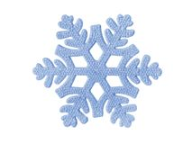 Toy snowflake Royalty Free Stock Photo