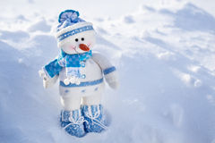 Toy snowman. Royalty Free Stock Photos