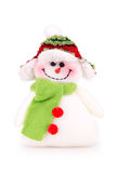 Toy snowman in the cap with scarf Stock Image