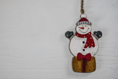 Toy snowman Christmas decoration. Stock Photography