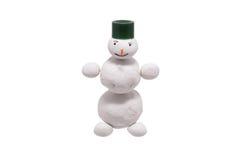 Toy Snowman-Plasticine Stockfoto
