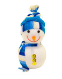 Toy snowman. On white background isolated Stock Photo