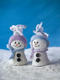 Toy Snowmen Royalty Free Stock Photography