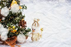 Toy snowmen royalty free stock image
