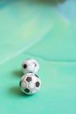 Toy soccer footballs Stock Photos