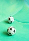 Toy soccer footballs Stock Photo