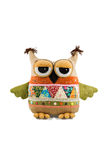 Toy soft owl Stock Images