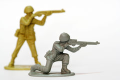 Toy Soldier. A couple of firing toy soldier Royalty Free Stock Photo