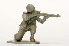 Toy Soldier. A firing toy soldier figure Royalty Free Stock Photos