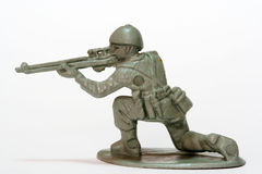 Toy Soldier. A firing toy soldier figure Stock Image