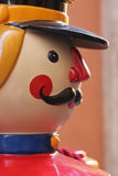 Toy Soldier. Face of a big toy soldier Stock Photo