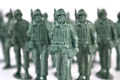 Toy soldier. On white background royalty free stock image