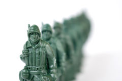 Toy soldier. On white background royalty free stock photos