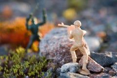 Toy soldier. In ground war Stock Photos