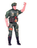 Toy soldier. In green uniform royalty free stock images