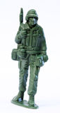 Toy Soldier. Close up of toy soldier stock image