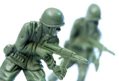 Toy Soldier. Close up of toy soldier stock photo