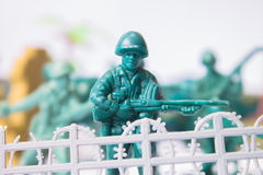 Toy soldier - border guard Stock Image