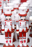 Toy soldier Christmas ornaments. Royalty Free Stock Images