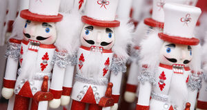 Toy soldier Christmas ornaments. Stock Photo